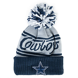 Dallas Cowboys Jr Pom Fire Knit Hat