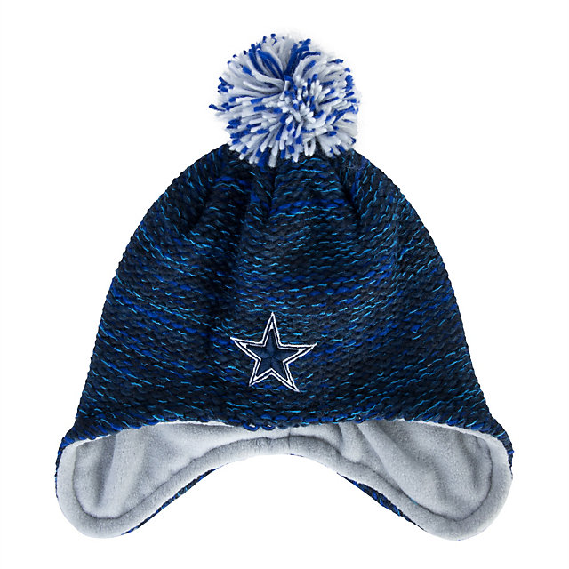 Dallas Cowboys New Era Youth Pom Bundle Knit Hat