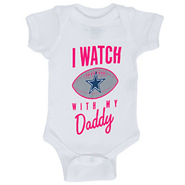 Dallas Cowboys Infant Watch With Dad Bodysuit