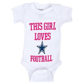 Dallas Cowboys Infant Girl Loves Cowboys Bodysuit