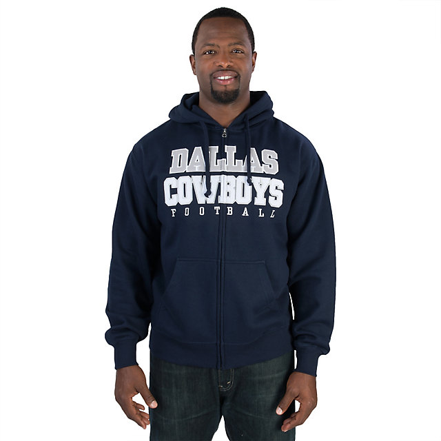 Men's Dallas Cowboys Nike Navy Blue Sideline Full-Zip Performance Hoodie