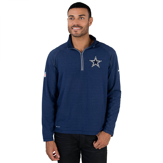 Dallas Cowboys Nike Game Day Half-Zip Knit Top
