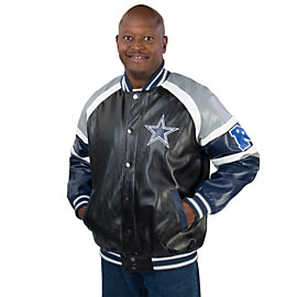 Dallas Cowboys Pleather Varsity Jacket