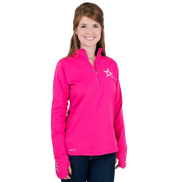 Dallas Cowboys Nike Womens BCA Element Half-Zip Top