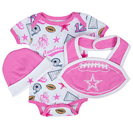 Dallas Cowboys Infant Humble Bib Set
