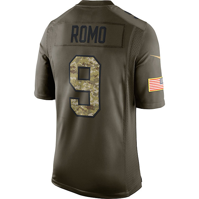 Dallas Cowboys Tony Romo #9 Nike Limited Salute To Service Jersey