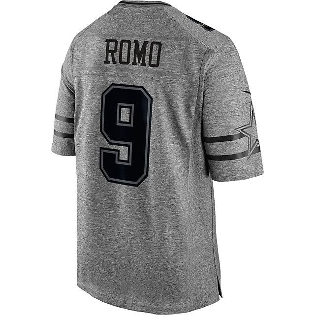 Dallas Cowboys Tony Romo #9 Nike Gridiron Grey Jersey