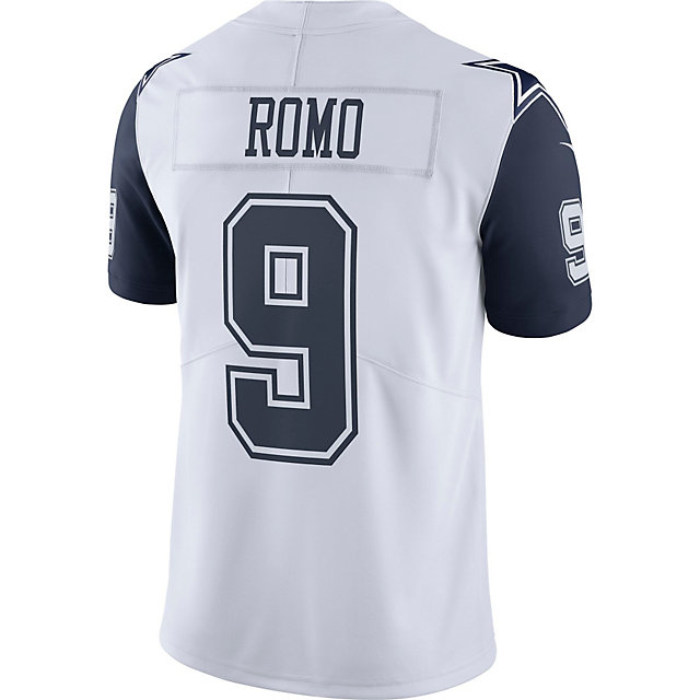 half off 4547e 86802 9 Dallas Limited Cowboys Romo White Jersey Tony hwanggane.com