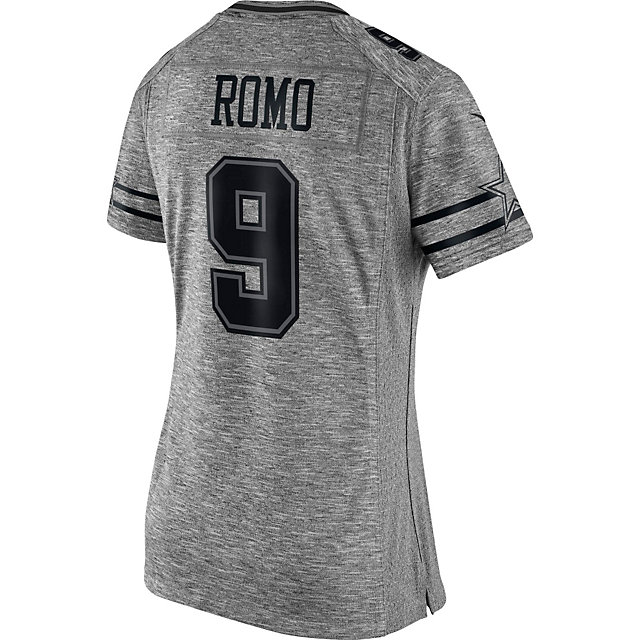 Dallas Cowboys Womens Tony Romo #9 Nike Gridiron Grey Jersey