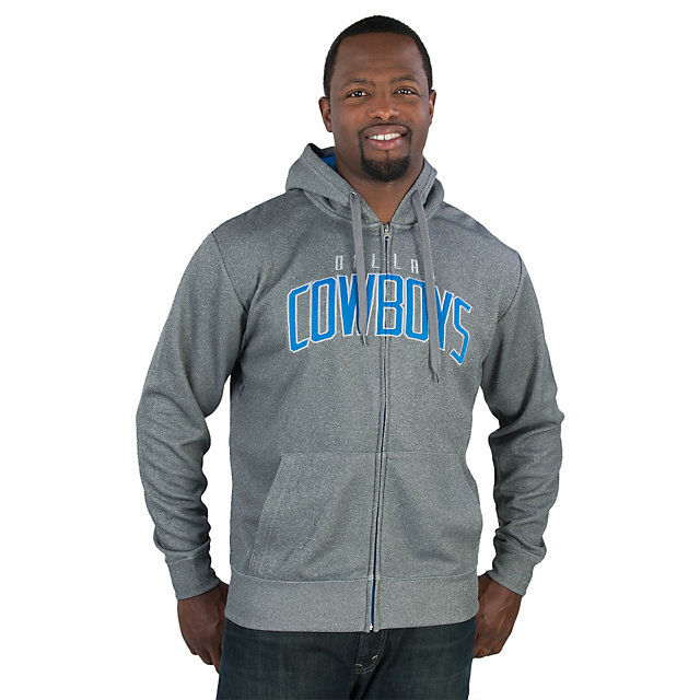 Dallas Cowboys Warren Performance Full-Zip Fleece Hoody