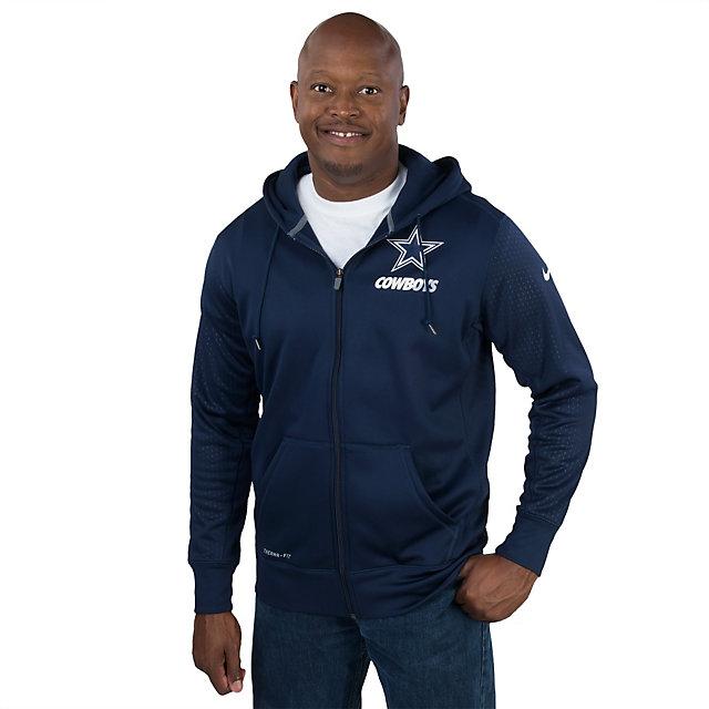 Dallas Cowboys Nike Sideline KO Fleece Full-Zip Hoody