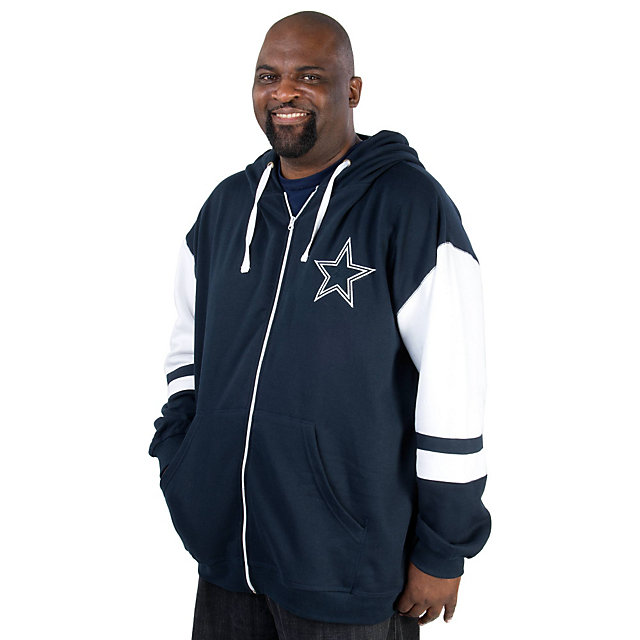 Dallas Cowboys Big and Tall Fashion Full Zip Fleece Jacket