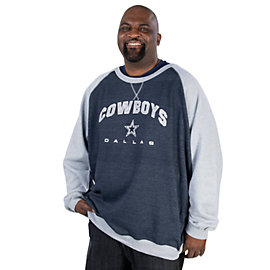 Dallas Cowboys Big and Tall Heather Crew
