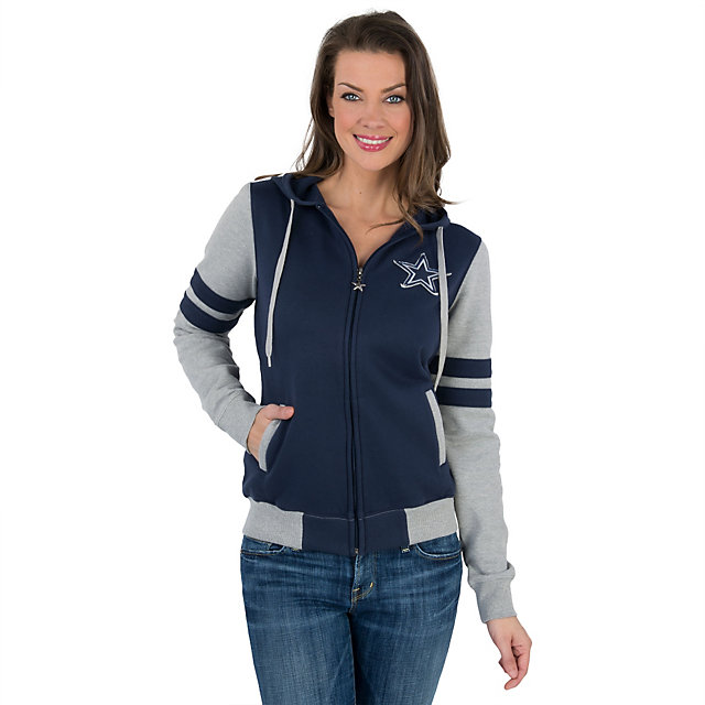 Dallas Cowboys Womens Fairfield Full Zip Fleece Hoodie
