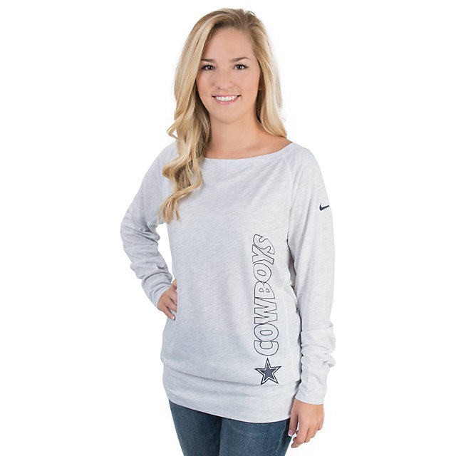 Dallas Cowboys Nike Womens Stadium Epic Long Sleeve Crew