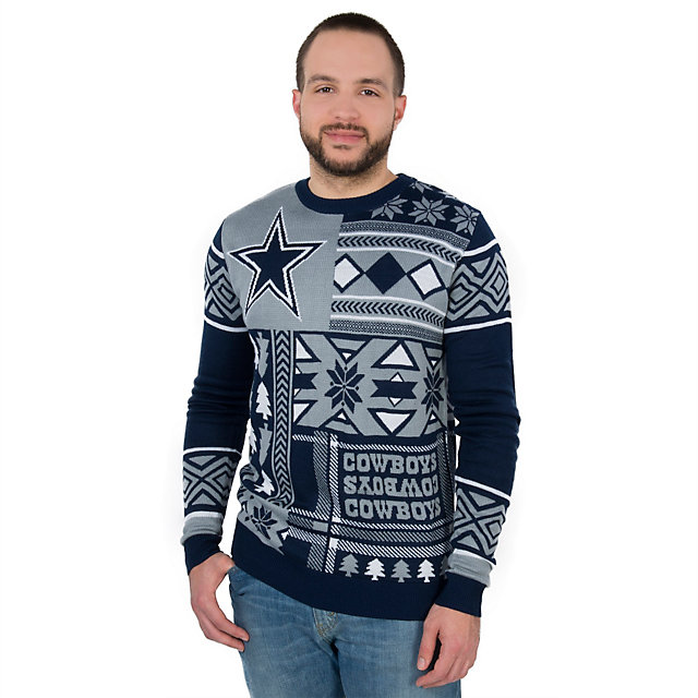 Dallas Cowboys Patches Ugly Crew Neck Sweater