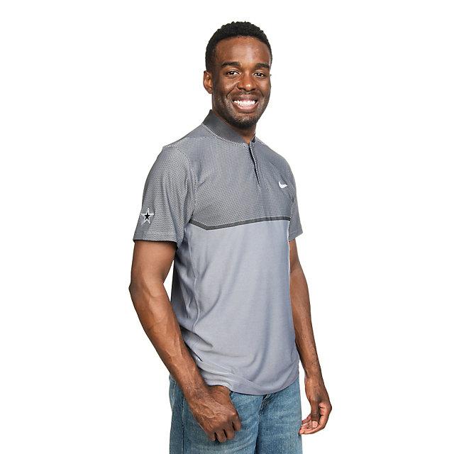 Dallas Cowboys Nike Golf Momentum Fly Swing Knit Block Alpha Polo
