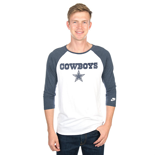 Dallas Cowboys Nike Historic Triblend Raglan Tee