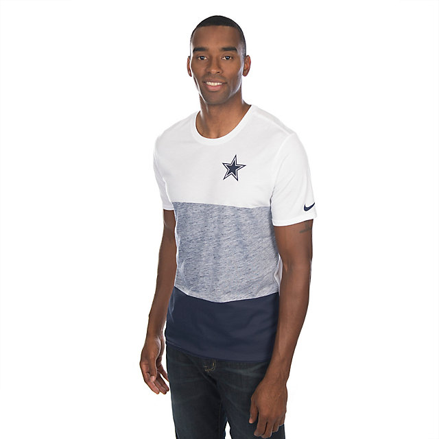 Dallas Cowboys Conviction Tri-Blend T-Shirt - Navy Blue