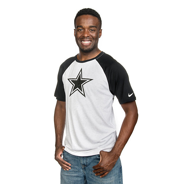 Dallas Cowboys Nike Gridiron Grey Triblend Raglan Tee