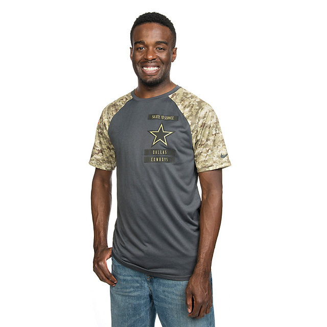 Dallas Cowboys Nike Salute to Service Raglan Tee