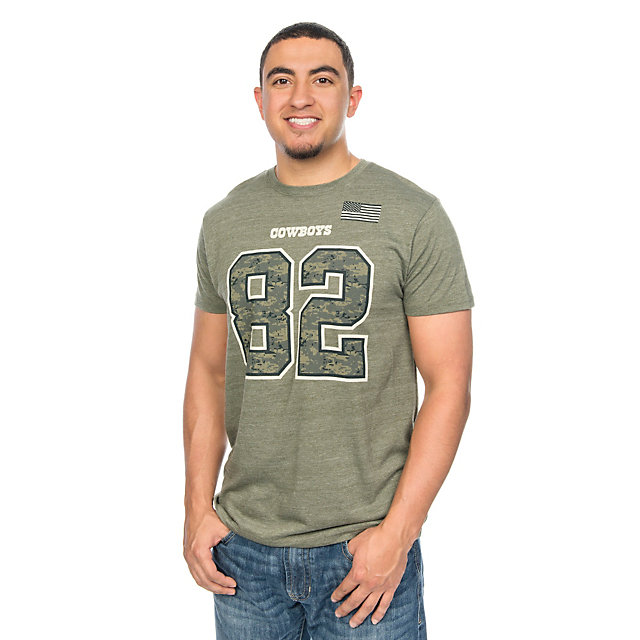 Dallas Cowboys Jason Witten #82 Digi Wood Name and Number Tee