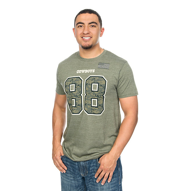 Dallas Cowboys Dez Bryant #88 Digi Wood Name and Number Tee