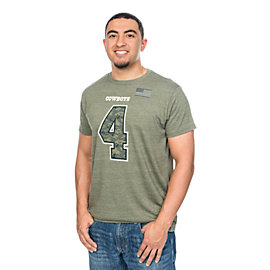 Dallas Cowboys Dak Prescott #4 Digi Wood Name and Number Tee