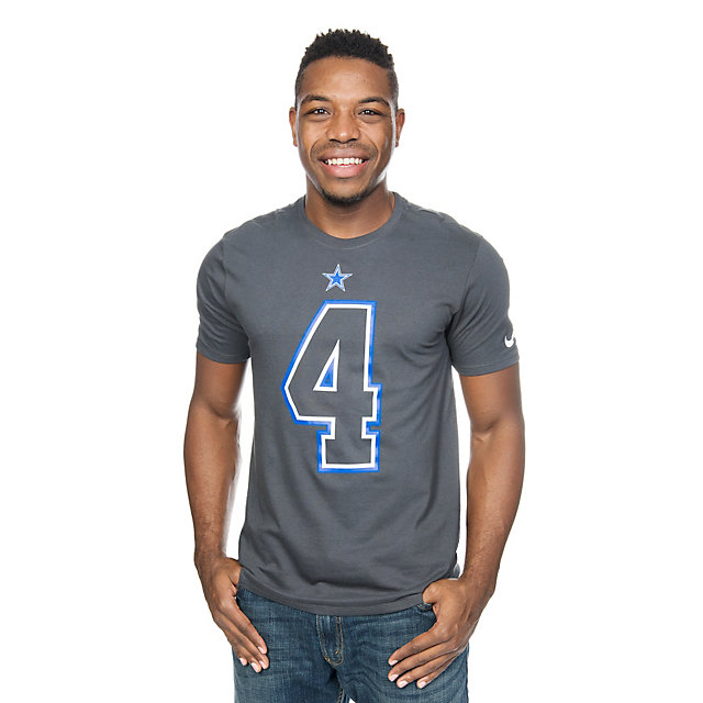 Dallas Cowboys Nike Dak Prescott #4 Travel Name and Number Tee