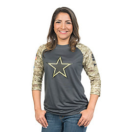 Dallas Cowboys Nike Salute to Service Womens Raglan Tee