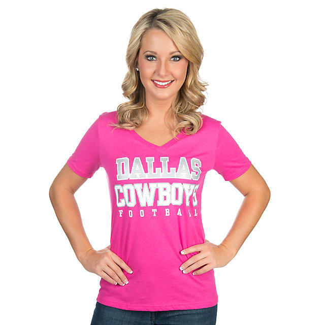 Dallas Cowboys Missy Practice Glitter Tee