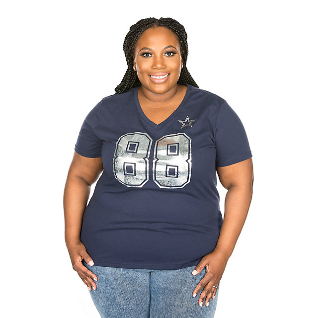 Dallas Cowboys Missy Dez Shimmer Away Tee
