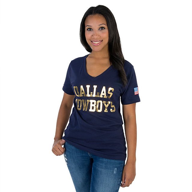 Dallas Cowboys Ladies Medalist Tee