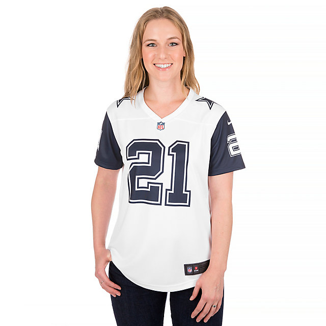 Dallas Cowboys Womens Ezekiel Elliott #21 Nike XC2 Color Rush Tee