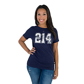 Dallas Cowboys Womens Zeke And Dak 214 Tee