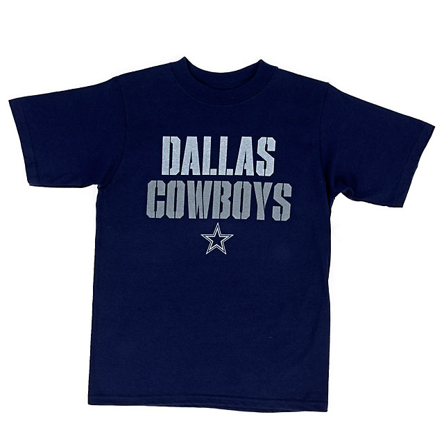 Dallas Cowboys Youth Stencil Stack Tee