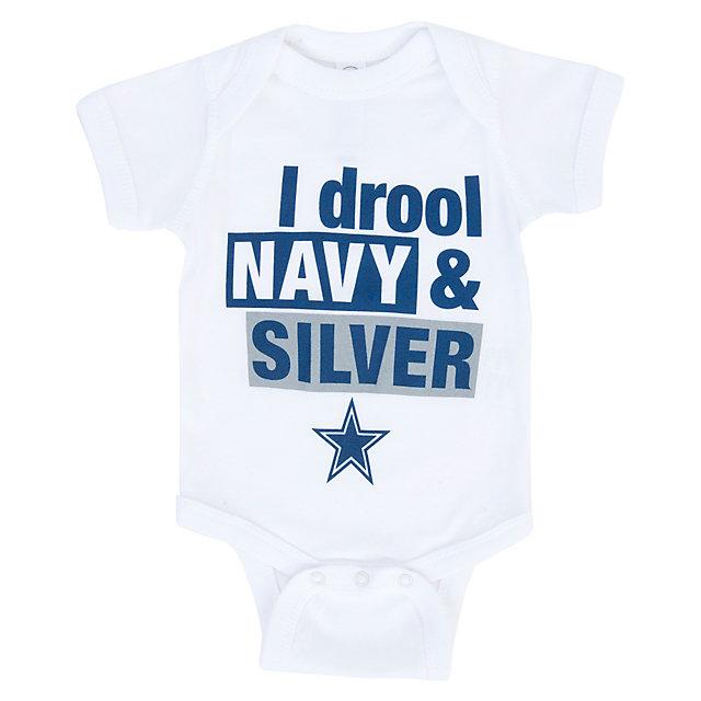 Dallas Cowboys Infant Drool Navy Bodysuit | Infant Outfits ...