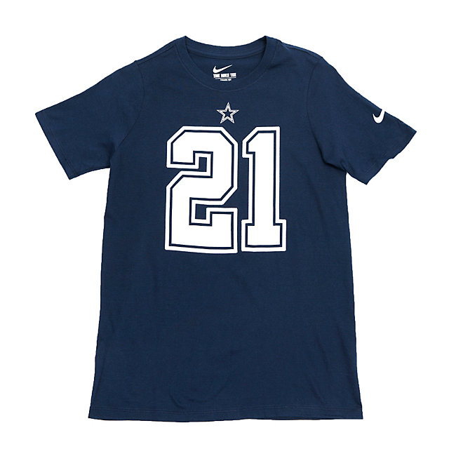 Dallas Cowboys Youth Ezekiel Elliott #21 Nike Name and Number Tee
