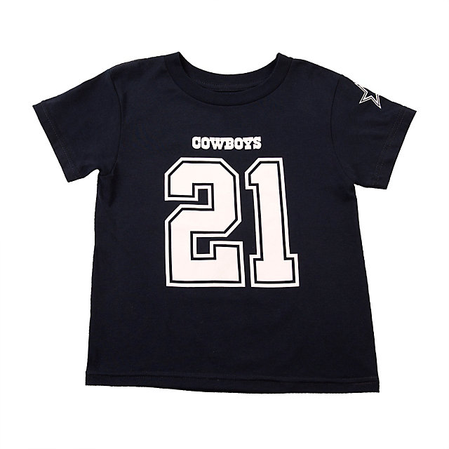 Dallas Cowboys Toddler Ezekiel Elliott #21 Name and Number Tee