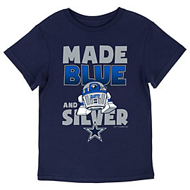 Dallas Cowboys Star Wars Kids Blue Silver Tee