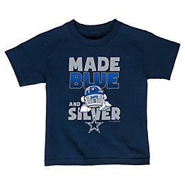 Dallas Cowboys Star Wars Toddler Blue Silver Tee