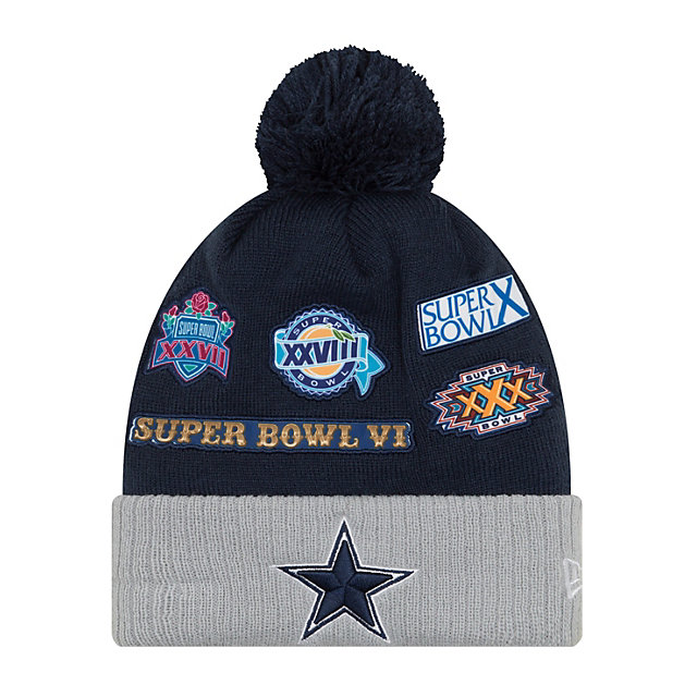Dallas Cowboys New Era Super Bowl Patcher Knit Hat