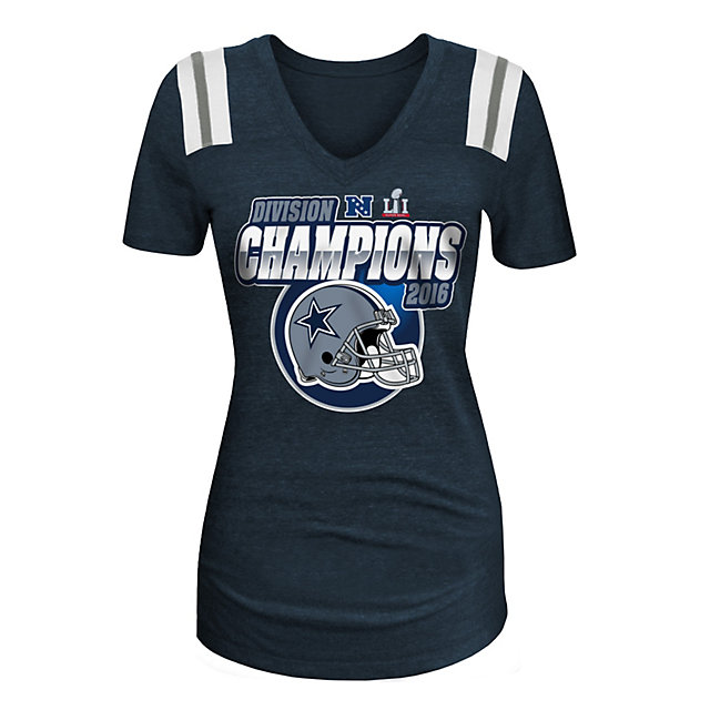Dallas Cowboys 5th & Ocean Womens 2016 NFC East Division Champs Tee