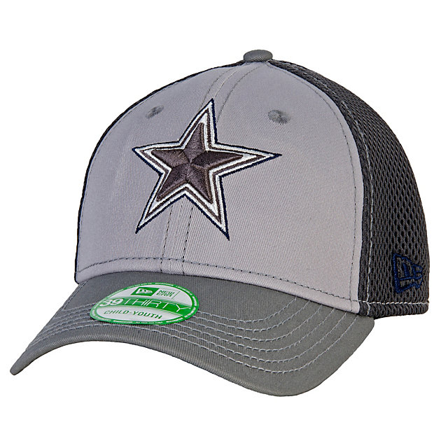 Dallas Cowboys New Era Jr Greyed Out Neo 39Thirty Cap
