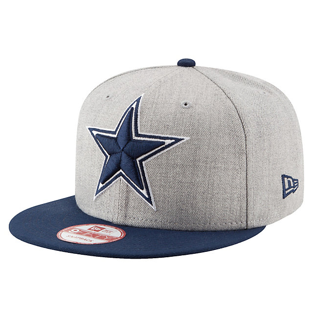 Dallas Cowboys New Era Jr Heather Grand Fitted 59Fifty Cap