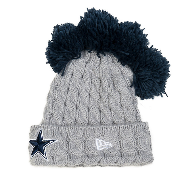 Dallas Cowboys New Era Pom Quad Knit Hat