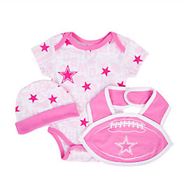 Dallas Cowboys Infant Mason Bib Set