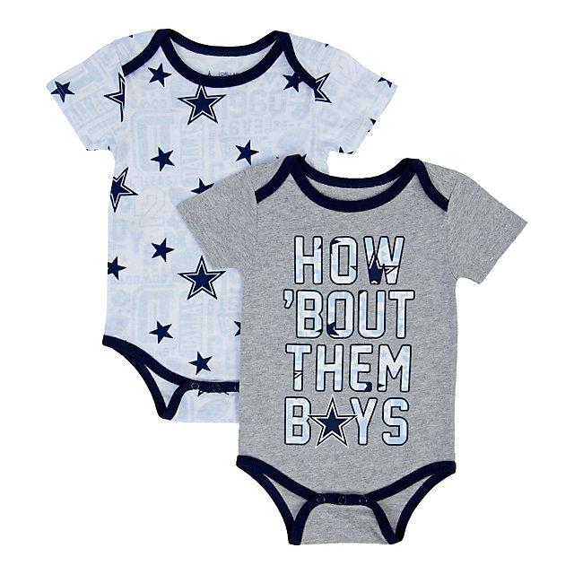 Dallas Cowboys Infant Musgrove 2 Pack Bodysuit Set