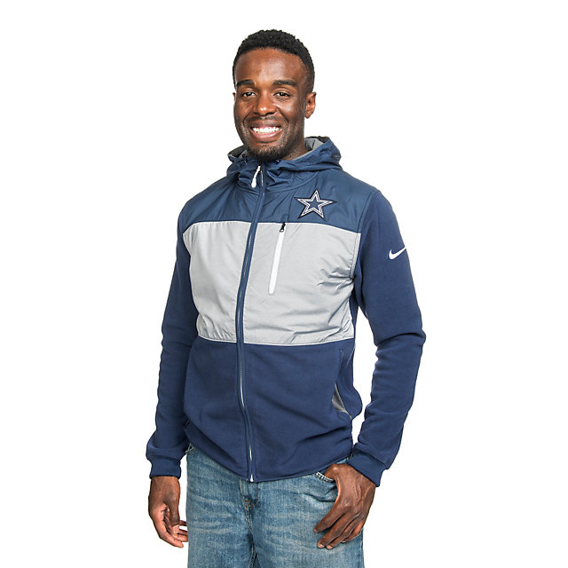 Dallas Cowboys Nike Championship Drive Fleece Full-Zip Hoody