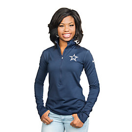Dallas Cowboys Nike Pro Hyperwarm Half Zip Pullover